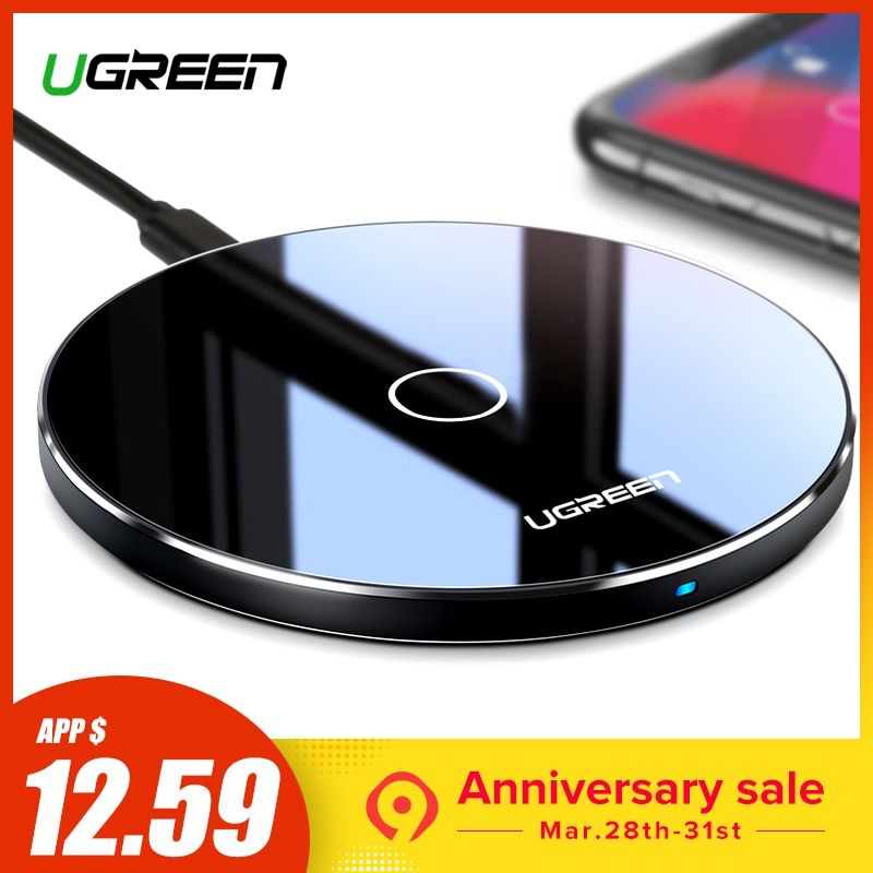 Ugreen 10W Qi Wireless Charger | Wireless charger, Samsung