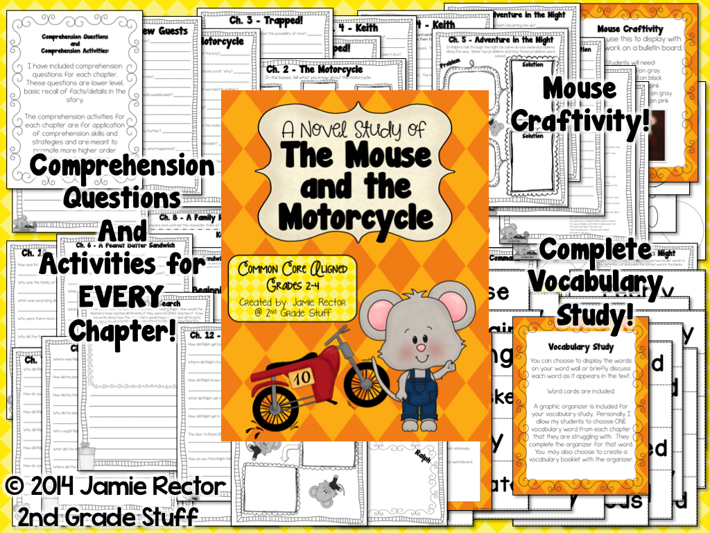 The Mouse And The Motorcycle Novel Study Common Core