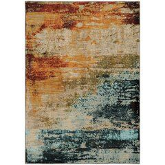 Annan Abstract Hand Tufted Multicolor Area Rug Abstract Rug Blue Area Rugs Nature Color Palette