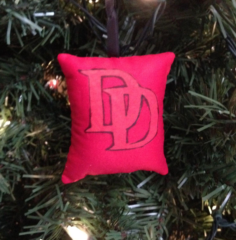 Lawyer christmas ornaments - Daredevil Logo Symbol Christmas Ornament Marvel Super Hero Matt Murdock Blind Sonar Man Without Fear Lawyer