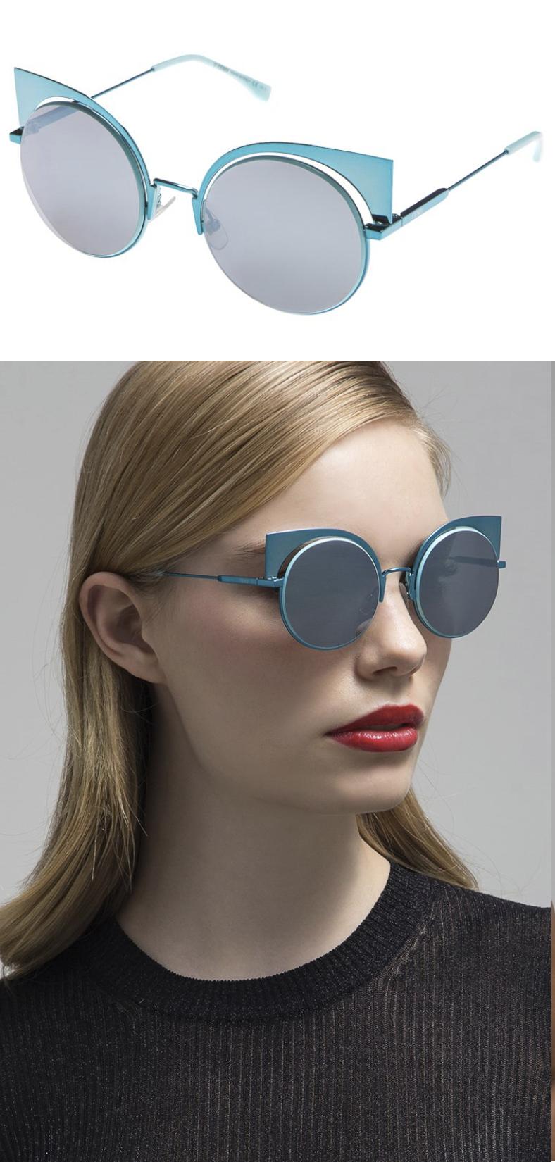 dc9545a81a7ab FENDI sunglasses turquoise FF 0177 S W5I