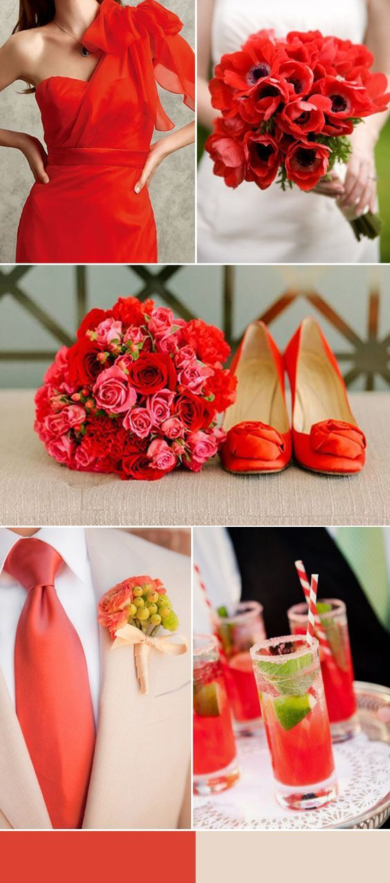 Top 10 Most Popular Wedding Color Palettes For 2019 Summer Red