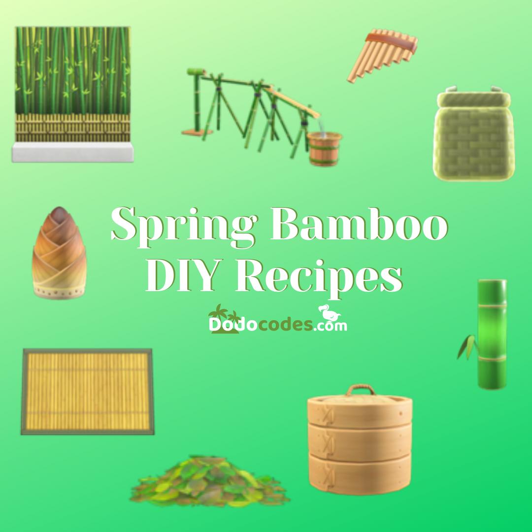 All Spring Bamboo Diy Recipes Acnh In 2021 Bamboo Diy Diy Food Recipes Festival Diy