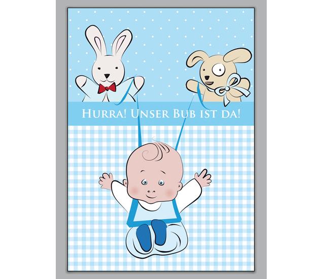 Http://www.1agrusskarten.de/shop/suse Babykarte Junge Mit Baby Und Stofftieren Hurra Unser Bub Ist Da/  00000_1_2319, Eltern, Familie, Geboren Neugeborenes, ...