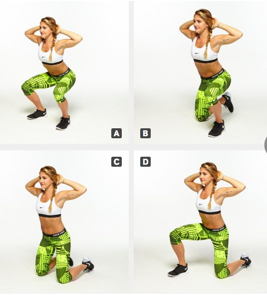 Surrender squats!! A) Stand with feet hip-width apart and ...