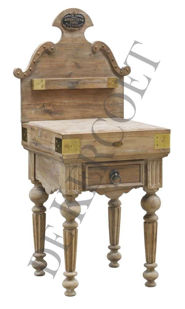 de kercoet mobilier d co meubles billots tables chaise butcher block pinterest. Black Bedroom Furniture Sets. Home Design Ideas