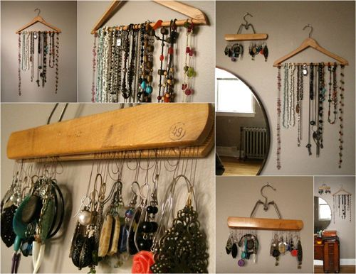 Clothes Hanger Jewelry Organizer Diy Clothes Hanging Cheap