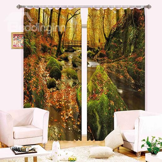 Scenery Curtains wonderful jungle scenery 3d blackout curtain on sale, buy retail