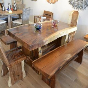 Good Chunky Dining Room Table And Chairs