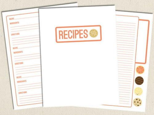 Sweet Free Printable Recipe Pages Recipe cards, Free printables - free recipe templates