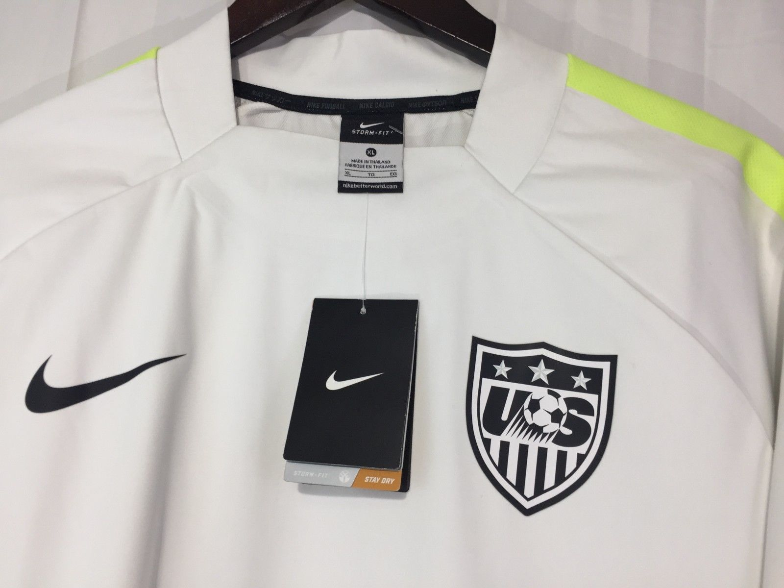 2ad190124340 NWT Nike Storm-Fit Team USA Soccer Long Sleeve Jersey 643848-102 Men s Sz  XL