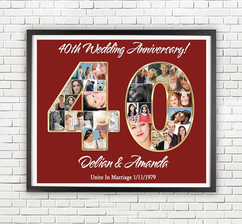 Anniversary gift to parents 40 year anniversary gifts