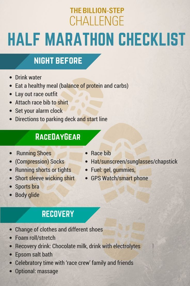 If you're prepping for a half marathon, or any long distance run, this checklist is essential! #runn...