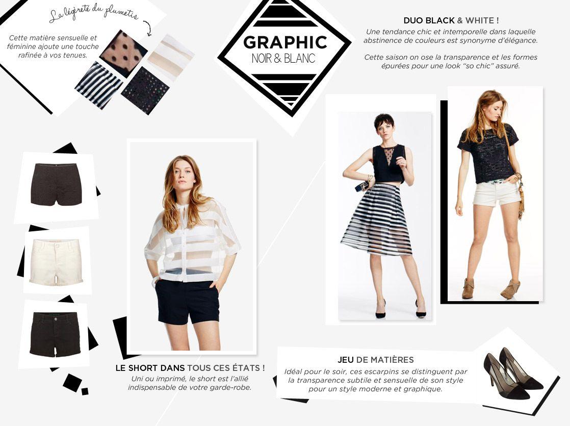 Graphic Noir et Blanc · Tendances ModeBlancMode ... 1c0260c7bd2f