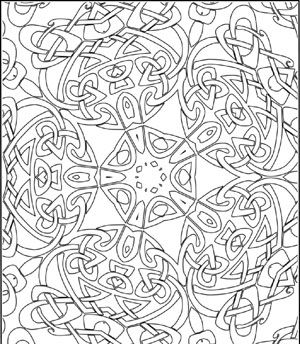 Celtic Kaleidoscope Design Poster To Color By Lee Hansen For Clip Art And Crafts Free ColoringColoring BooksColouringColoring Pages AdultsPrintable