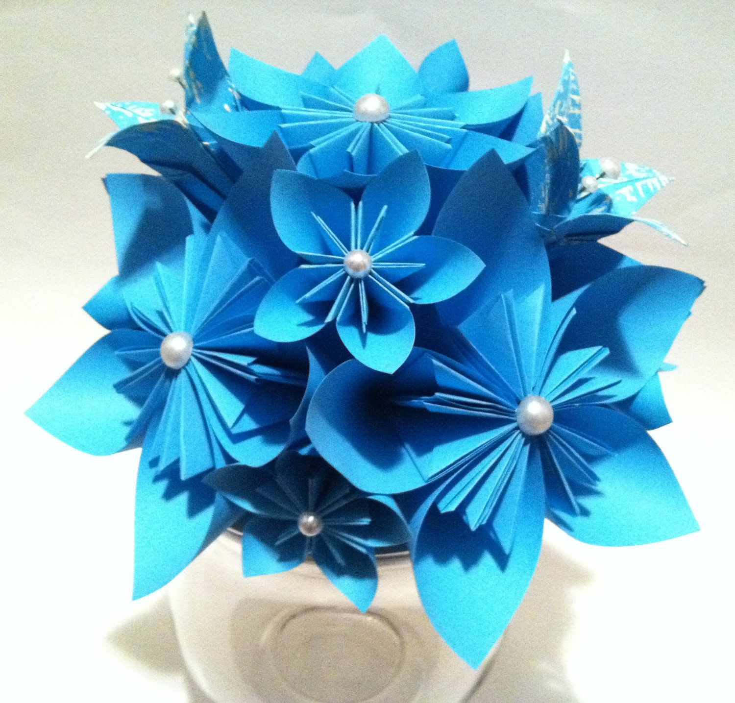 Wedding decorations paper flowers  Origami Wedding Centerpiece paper flowers and lilies made to order