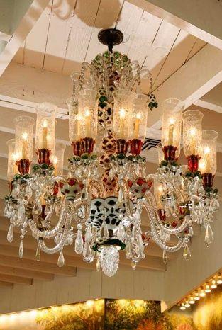 19th century Baccarat chandelier...love