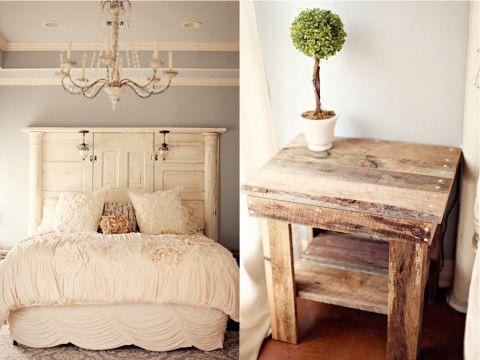 Barnwood Bedside Table