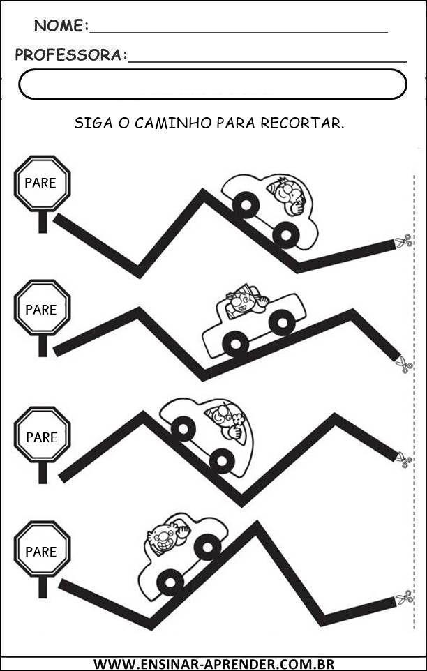 Atividades de Treino da Coordenação Motora | Cantinho do Educador ...