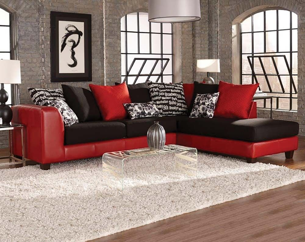 Black And Red Sectional Couches
