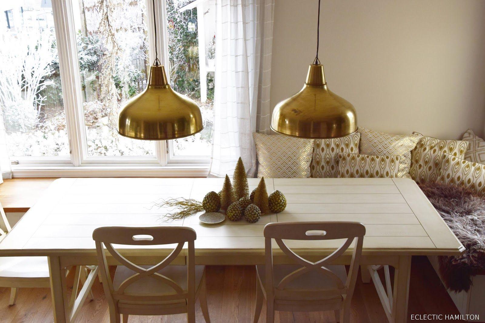 Die Perfekte Lampe Für Das Esszimmer Und Tolle Weihnachtsdeko In Gold.Tipps  Zum Leuchtmittelkauf / Lampenkauf: LED Lampen Leuchten Esszimmer Tisch Deko  ...