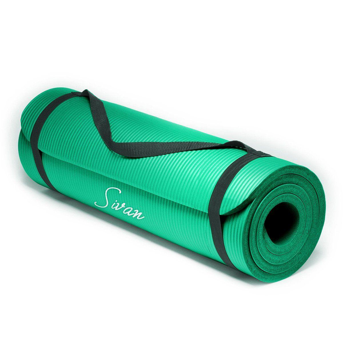 19 99 Amazon Com Sivan Health And Fitness Nbr Yoga And Pilates Mat Blue Hemingweigh Extra Thick Foam Execis Yoga Mats Best Mat Pilates Yoga Mat Reviews