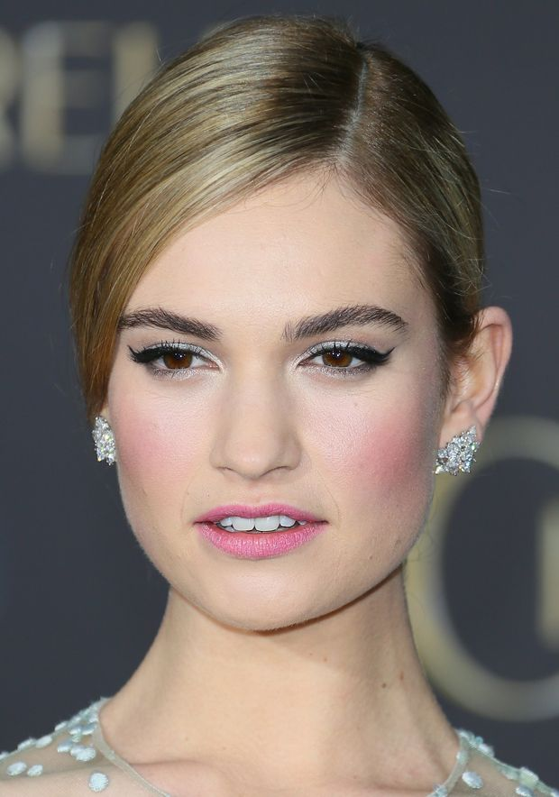 23e137a5ef How to Get Lily James  Fairy Tale Makeup Look - theFashionSpot