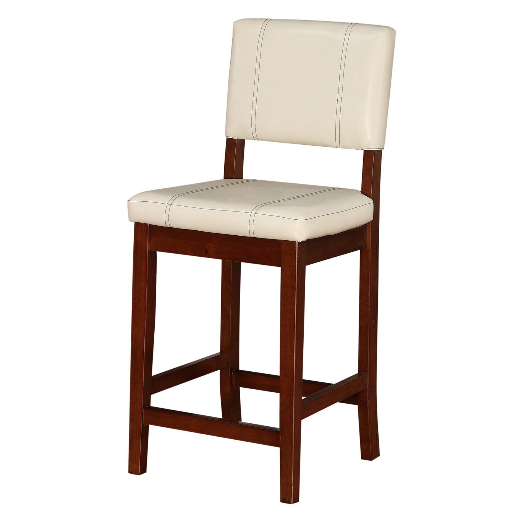 Magnificent Linon Milano 24 In Counter Stool Walnut 0210Crm01U Unemploymentrelief Wooden Chair Designs For Living Room Unemploymentrelieforg