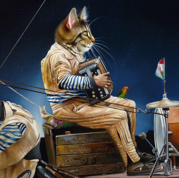 Avondorkestwim Bals With Images Kitten Art Cat Art Animal Art