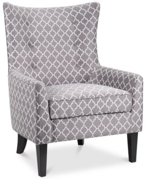 Accent Chairs Gray Pattern Golden Technologies Lift Chair Reviews Brie Printed Fabric Quick Ship Products Lattice