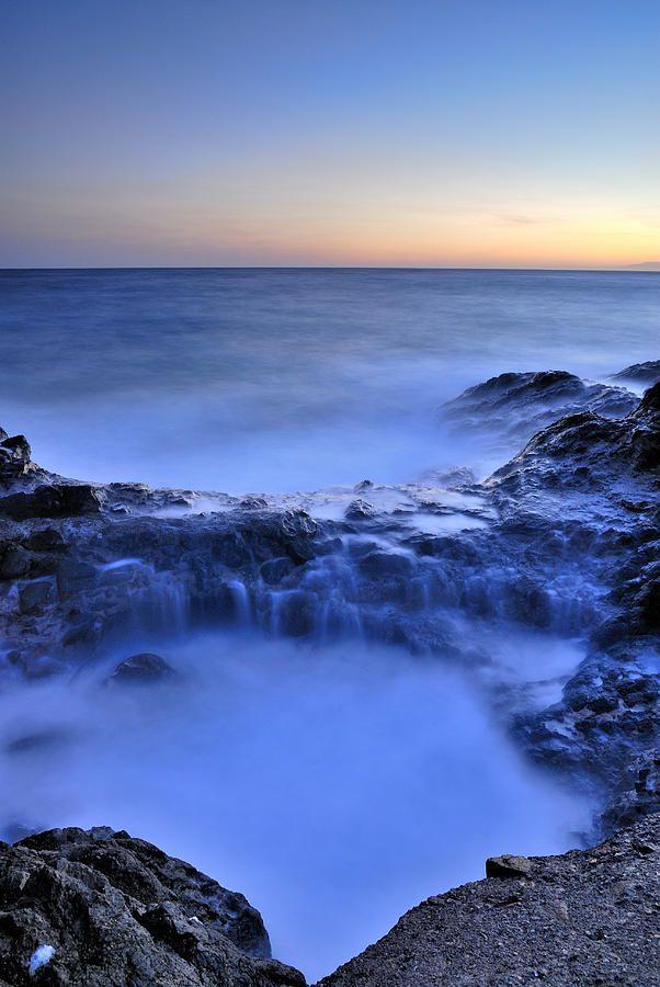 Blue Seaside Art Landscape