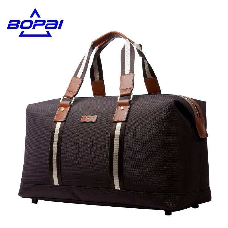 BOPAI Waterproof Oxford Leather men travel bags Carry on Luggage ...