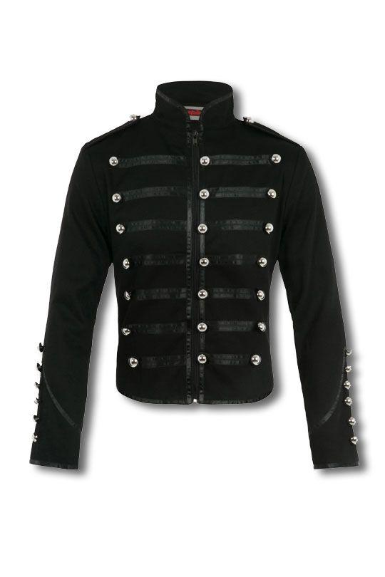 Military Jacke schwarz | Gothic Jacke | Cosplay Jacke
