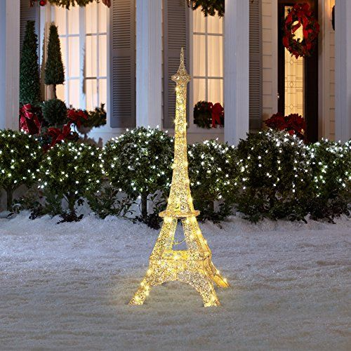 Gemmy 5.05 ft Eiffel Tower Christmas Outdoor Decoration Gemmy http ...