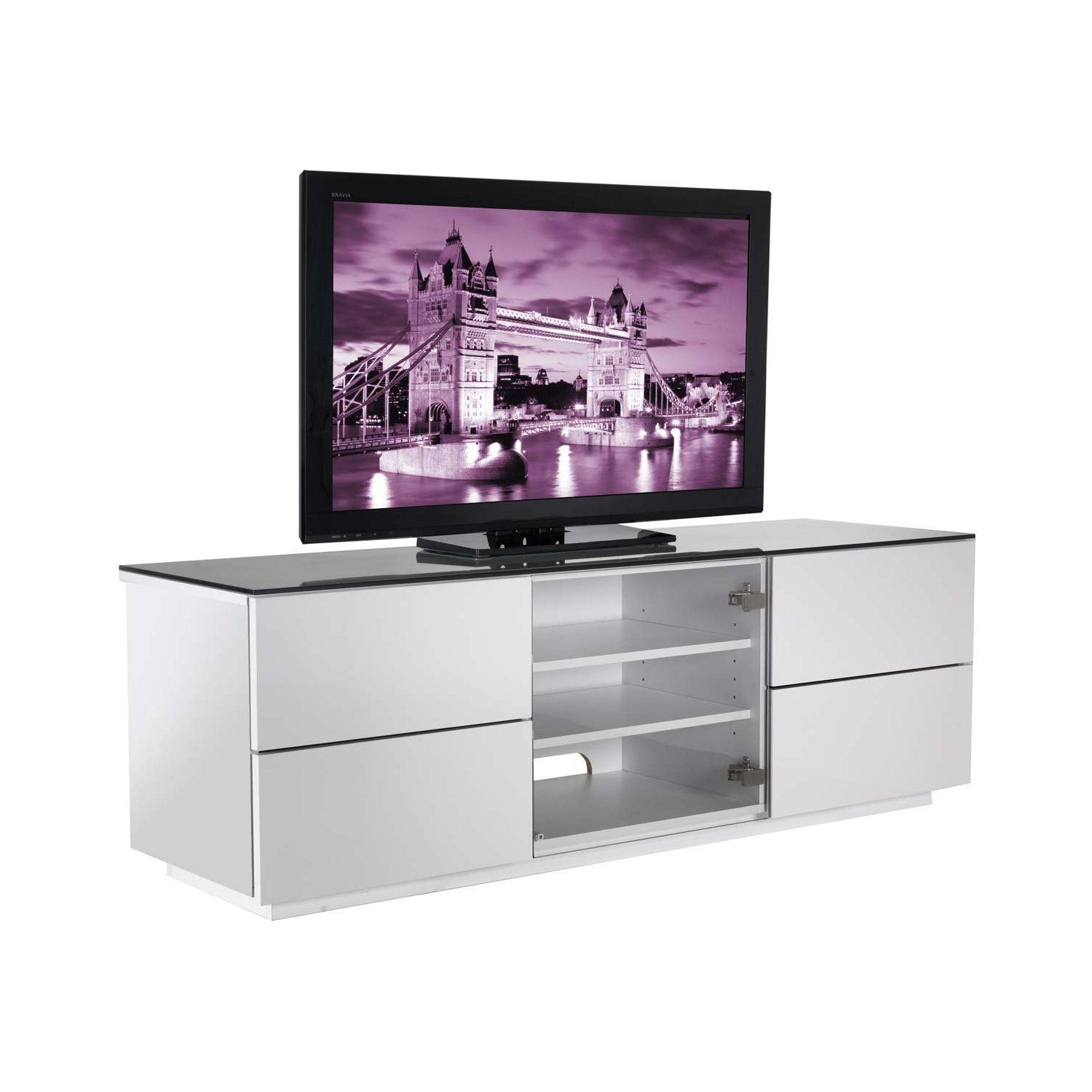 UK-CF High Gloss White Cabinet For TVs up to 60 inch: Amazon.co.uk ...