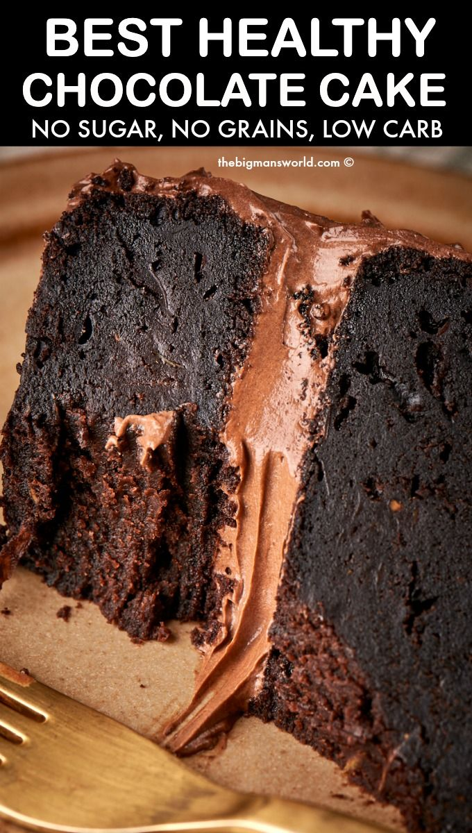 Photo of Healthy Chocolate Cake (The BEST recipe!)