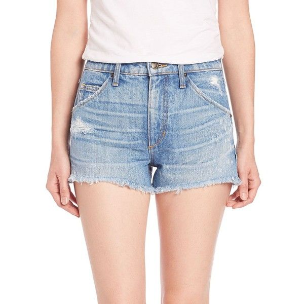 Joe's Wasteland Distressed Cutoff Jean Shorts (2,795 MXN) ❤ liked on Polyvore featuring shorts, apparel & accessories, mazie, destroyed denim shorts, denim cutoff shorts, frayed denim shorts, denim shorts and jean cutoff shorts