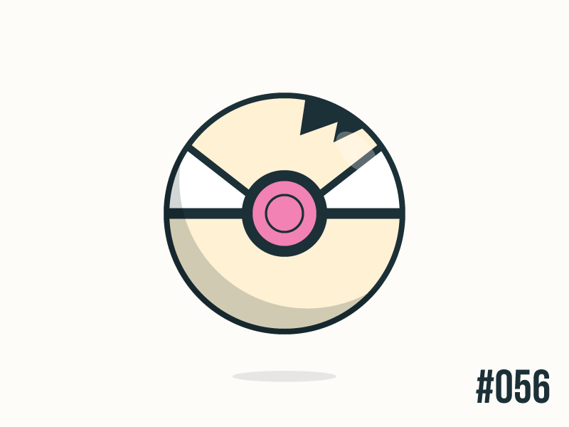 Pokéballday #56 Mankey Ball by Jonathan Coutiño. New Pokeball everyday inspired in one of the 801 Pokémon.
