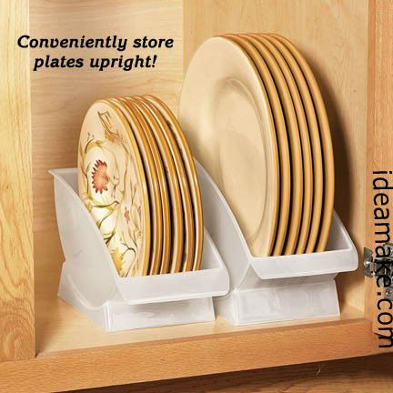 2 in 1 Dish Organizer Kitchen Gadget As Seen On TV Kitchen Organizer Dish Rack $0.7 : dinner plate organizer - pezcame.com