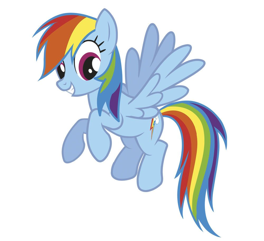 My Little Pony Rainbow Dash Wall Stickers Mural 19 Decals Horse