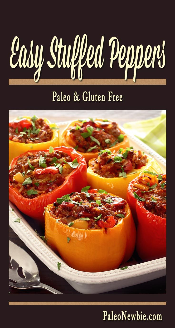Easy Paleo Recipe For Stuffed Peppers Paleo Newbie Recipe Paleo Recipes Easy Stuffed Peppers Paleo Recipes