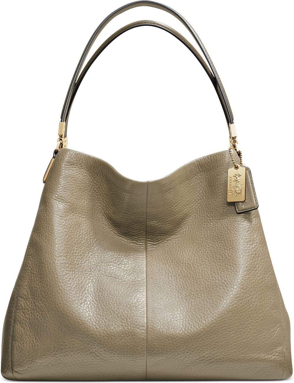 fa19d725ce85 ... where to buy coach madison small phoebe shoulder bag in grey birch  leather with light gold