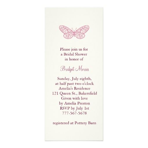 Butterfly Kisses Bridal Shower Invitation Zazzle Com Bridal Shower Invitations Bridal Shower Pink And Gold Wedding