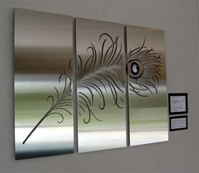 Pin By Brittany Smith On Feathers Steel Art Steel Wall Art Feather Wall Art