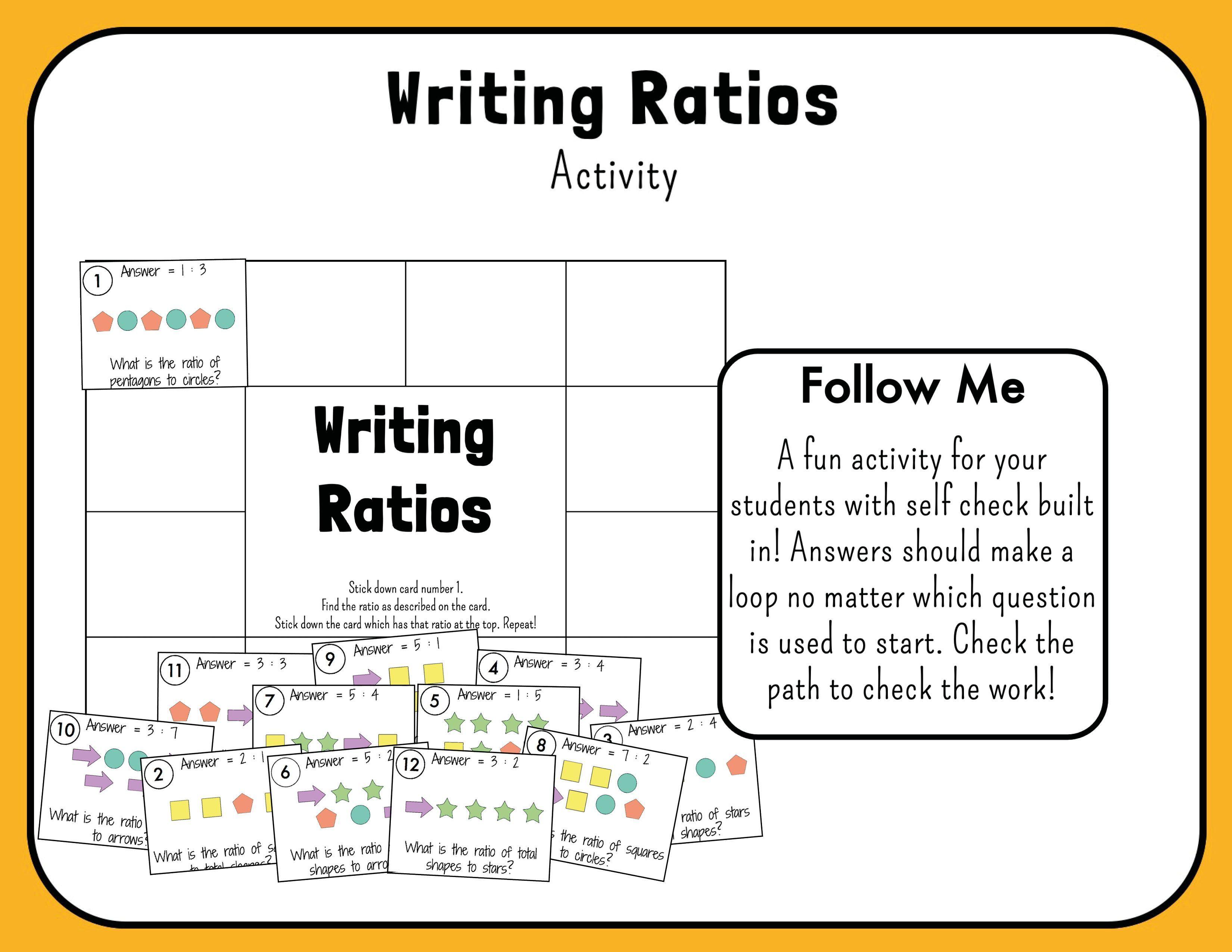 Writing Ratios In 2020 Writing Ratios Writing Lesson