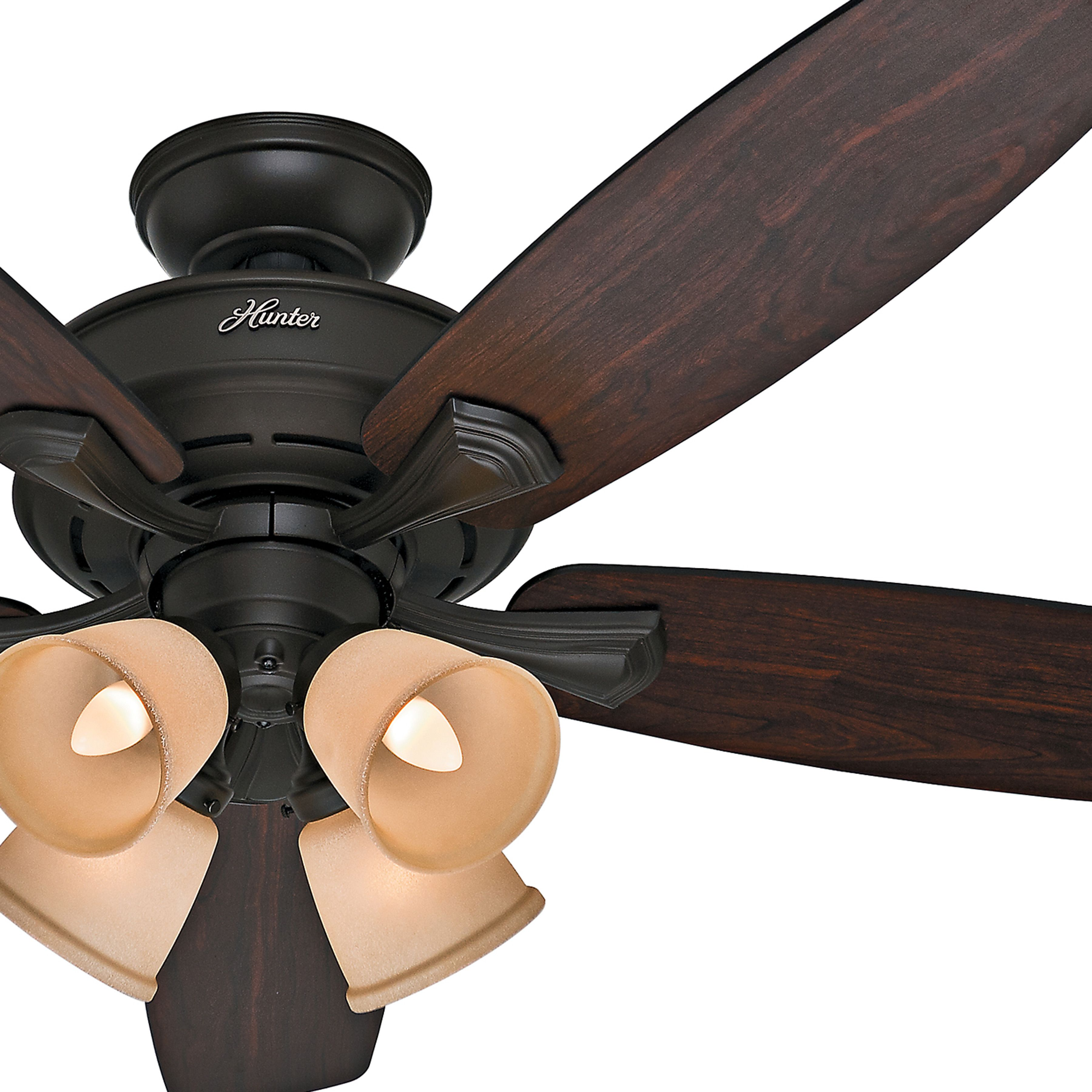 Hunter 52 inch new bronze finish ceiling fan and dark hunter fan new bronze finish ceiling fan and dark reversible blades certified refurbished mozeypictures Choice Image