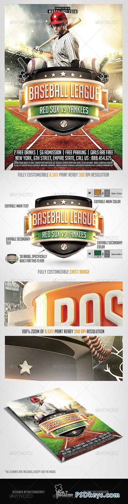 Baseball League Flyer  Simple Sports Flyer Ss Baseball  Baseball