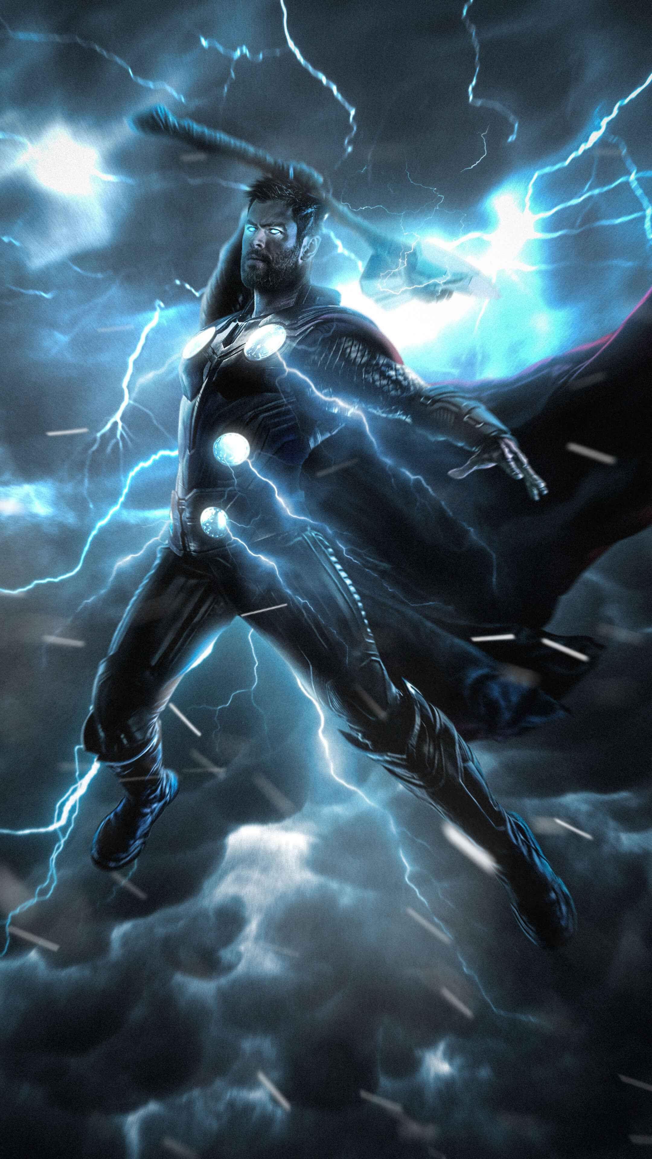 Avengers Endgame Thor Stormbreaker iPhone Wallpaper Thor