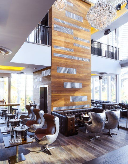 miamis 1826 restaurant lounge brings sleek midcentury style to south beach love the metal chairs