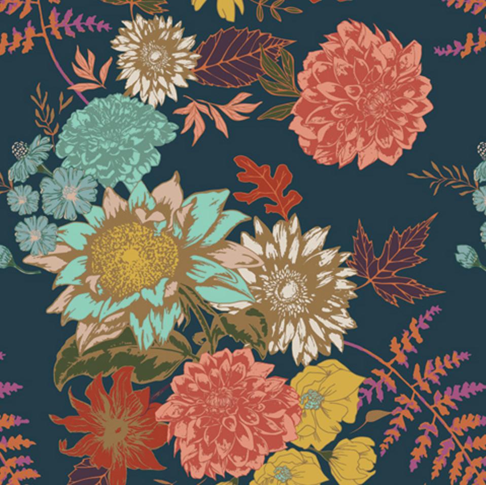 Floral Glow Twilight - 1/2 yard   Rosie's quilt   Art